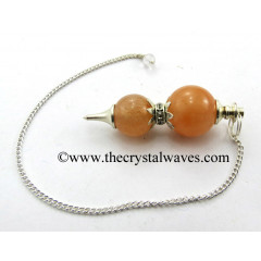 Red Aventurine Ball 2 Pc Pendulum