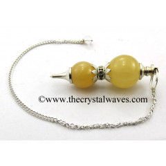 Yellow Aventurine Ball 2 Pc Pendulum