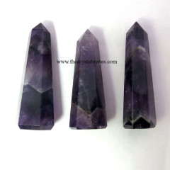 Amethyst 1.5 to 2 Inch Pencil Pencil 6 to 8 Facets