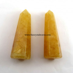 "Yellow Aventurine 2"" to 3"" Pencil 6 to 8 Facets"