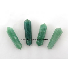 "Green Aventurine (Light) 1"" - 1.50"" Double Terminated Pencil"