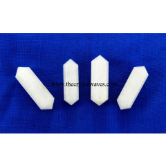 "Snow Quartz 1"" - 1.50"" Double Terminated Pencil"