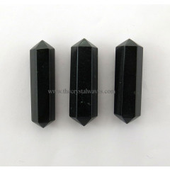 "Black Agate 1"" - 1.50"" Double Terminated Pencil"