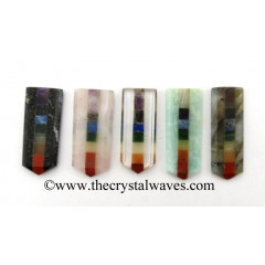Mix Assorted Gemstones Chakra Bonded Flat Pencil