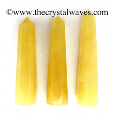 Yellow Aventurine 1.5 to 2 Inch Pencil 6 to 8 Facets