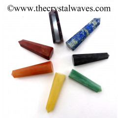 1.5 to 2 Inch Pencil 6 to 8 Facets Chakra Set