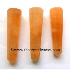 "Orange Selenite 2"" to 3"" Pencil 6 to 8 Facets"