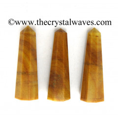 "Camel Jasper 2"" to 3"" Pencil 6 to 8 Facets"