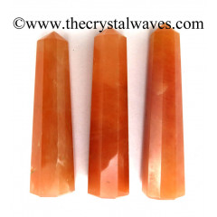 "Red Aventurine 2"" to 3"" Pencil 6 to 8 Facets"