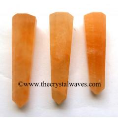 """Orange Selenite 3""""+ Pencil 6 to 8 Facets"""