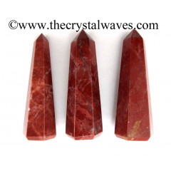 "Red Jasper 3""+ Pencil 6 to 8 Facets"