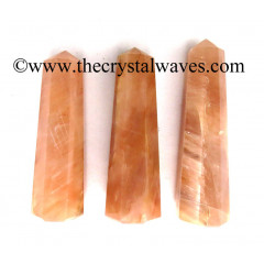 """Peach Moonstone 3""""+ Pencil 6 to 8 Facets"""