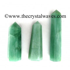 "Green Aventurine (Light) 3""+ Pencil 6 to 8 Facets"