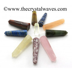 "Mix Gemstone 3""+ Pencil 6 to 8 Facets"