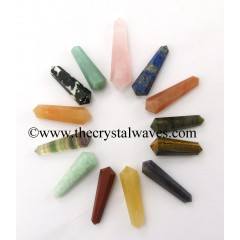 "Mix Assorted Gemstones 1 - 1.50"" Double Terminated Pencil"