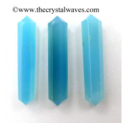 "Blue Chalcedony 1 - 1.50"" Double Terminated Pencil"