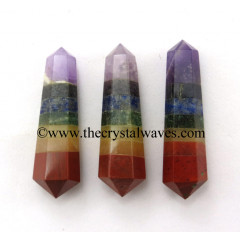 "7 Chakra Bonded 1.50 - 2"" Double Terminated Pencil"
