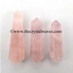 "Rose Quartz Good Color 1.50 - 2"" Double Terminated Pencil"