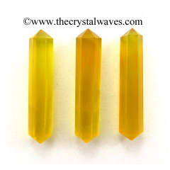 "Yellow Chalcedony 1.50 - 2"" Double Terminated Pencil"