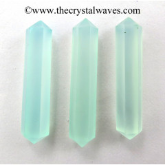 "Aqua Chalcedony 1.50 - 2"" Double Terminated Pencil"