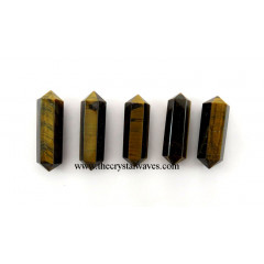 "Tiger Eye Agate 1.50 - 2"" Double Terminated Pencil"