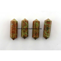 "Unakite 1.50 - 2"" Double Terminated Pencil"