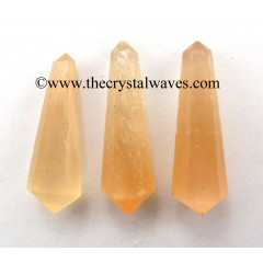"Orange Selenite 2 - 3"" Double Terminated Pencil"
