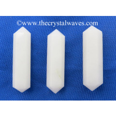 "Snow Quartz 2 - 3"" Double Terminated Pencil"