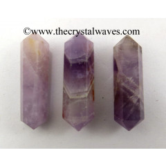 "Chevron Amethyst 1 - 1.50"" Double Terminated Pencil"