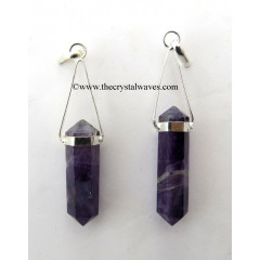 Amethyst Double Terminated Pencil Pendant