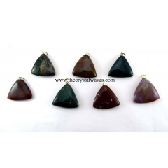 Fancy Jasper Triangle Pendant