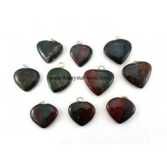 Blood Agate Heart Pendant
