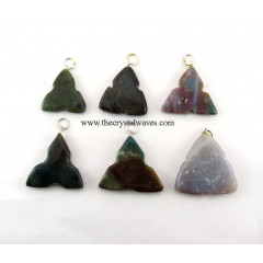 Fancy Jasper 3 Notch Triangle Pendant