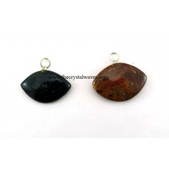 Fancy Jasper Eye Shape Pendant