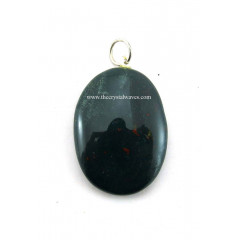 Blood Agate Oval Pendant