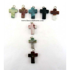 Fancy Jasper Cross Pendant