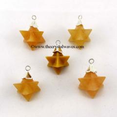 Yellow Aventurine  Merkaba / Star  Pendant
