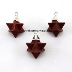 Red Jasper  Merkaba / Star  Pendant