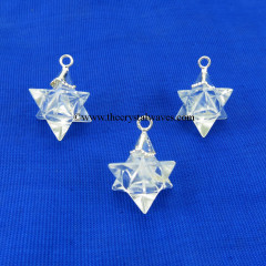Crystal Quartz  Merkaba / Star  Pendant