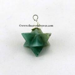 Green Aventurine  Merkaba / Star  Pendant