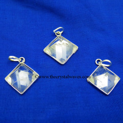 Crystal Quartz Pyramid Pendant