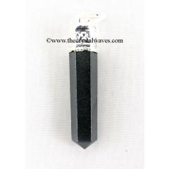 Black Agate Capped Pencil Pendant