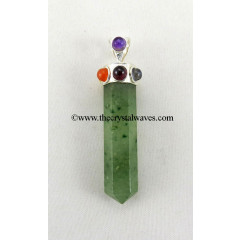 Green Aventurine ( Light) Pencil Chakra Pendant