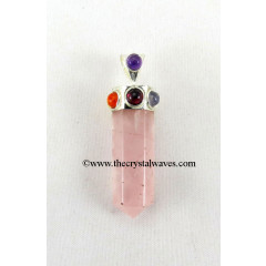 Rose Quartz Pencil Chakra Pendant