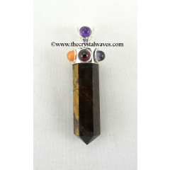Tiger Eye Agate Pencil Chakra Pendant