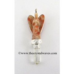 Sunstone Angel 2 Pc Pendant