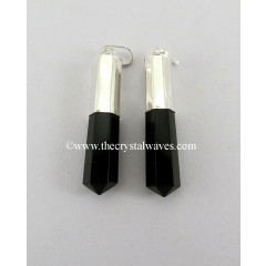 Black Agate Long Cap Pencil Pendant
