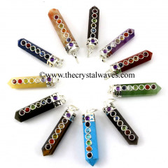 Mix Assorted Gemstone Pencil Chakra Pendants