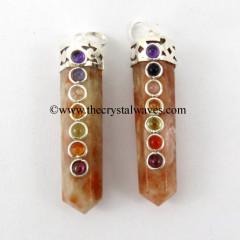 Sunstone Pencil Chakra Pendant