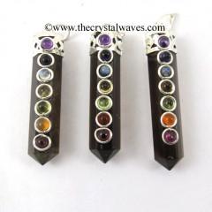 Smoky Obsidian Pencil Chakra Pendant